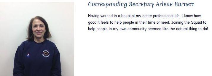 Arlene Burnett - Corresponding Secretary